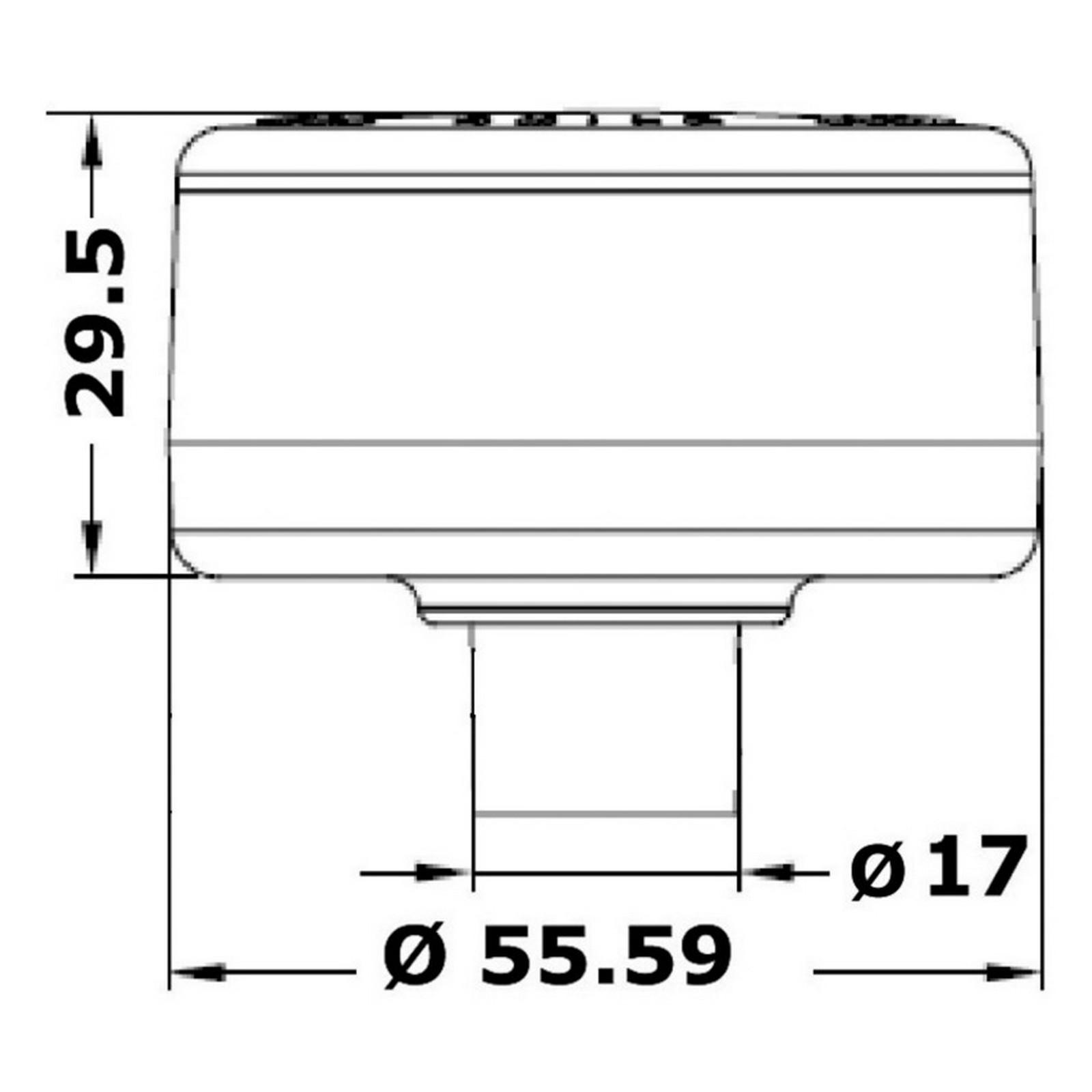 Blister 1Pz Luce di Fonda 360° Evoled in ABS nero Osculati 11.039.17