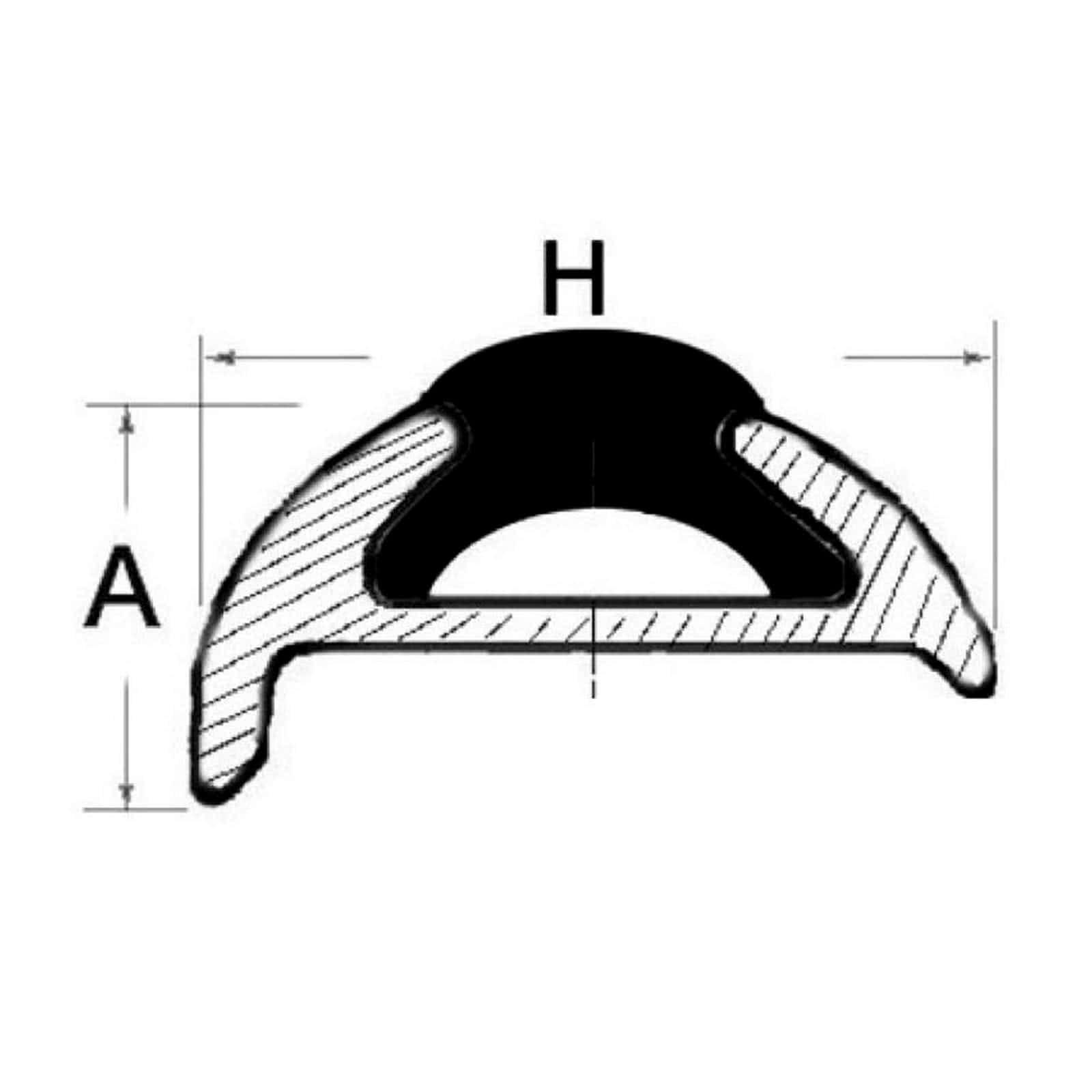 Profilo parabordo alluminio anodizzato 25 x 7 mm Bottazzo Parabo barre da 6 m