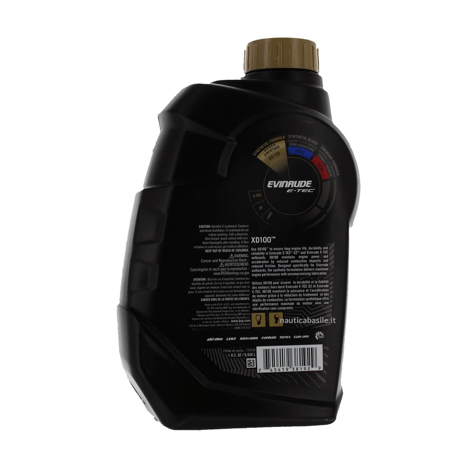 Details about Oil Xd 100 (0,946 Lt) Evinrude E-Tec - 779710