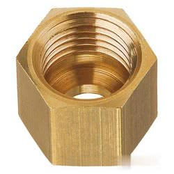 Brass nut for 8-mm copper tube, M14 x 1.5F pitch.