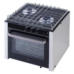 Gas range with cardan joint oven