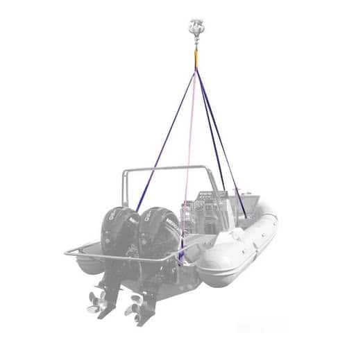 OSCULATI 3-arm dinghy lift system 2 straps